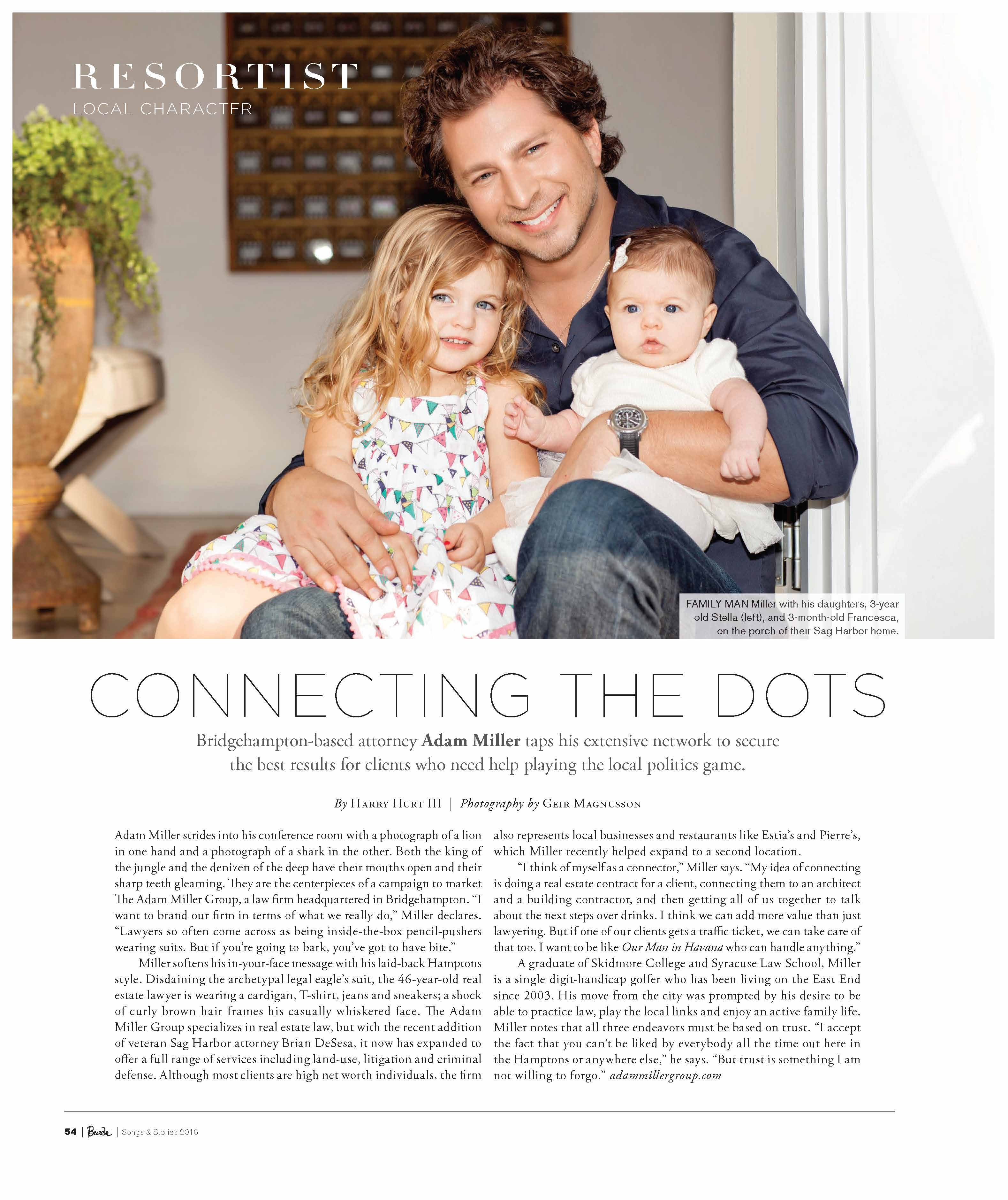 Connecting the Dots Beach Magazine June 2016