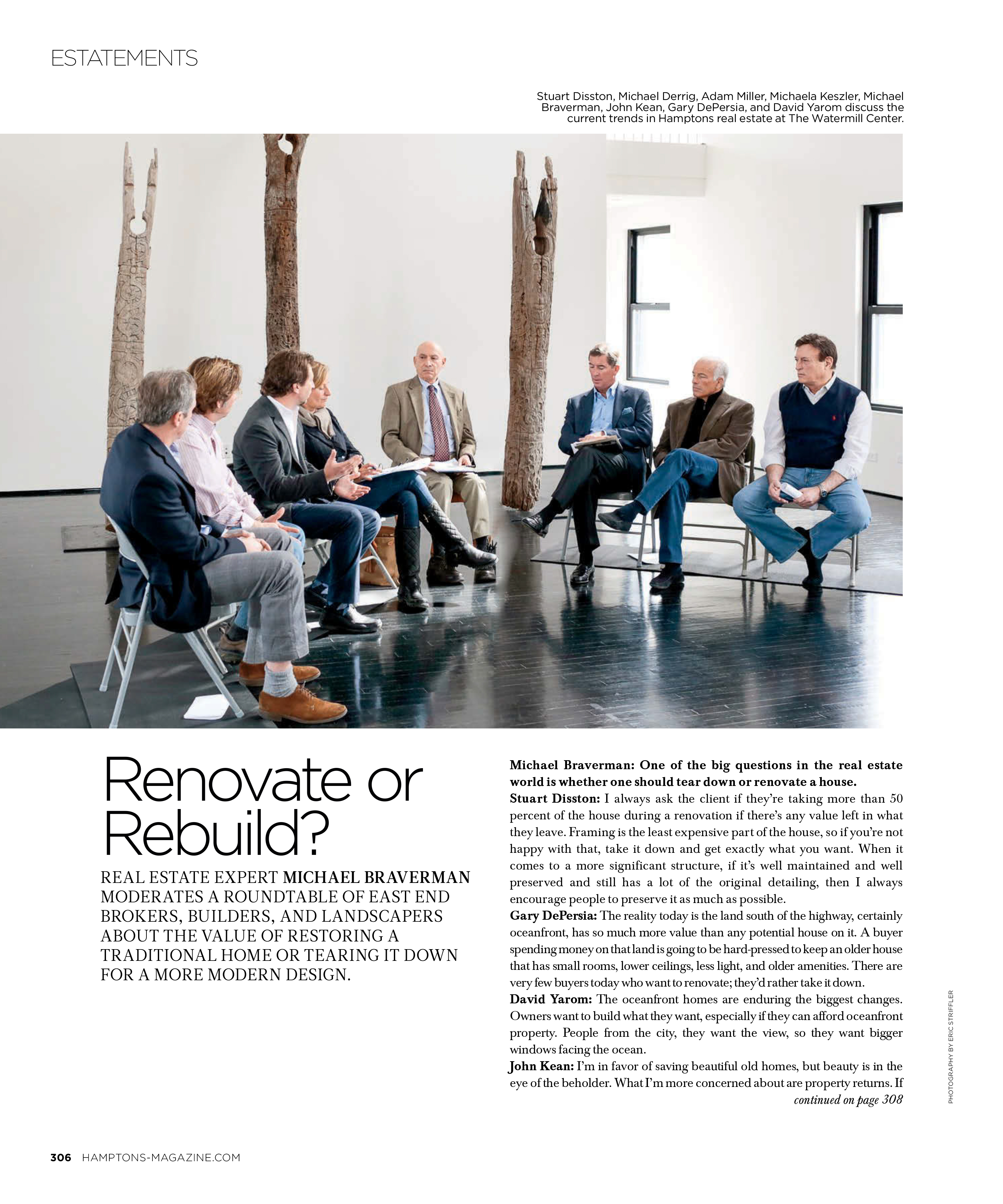 Renovate or Rebuild? Hamptons Magazine June 2014