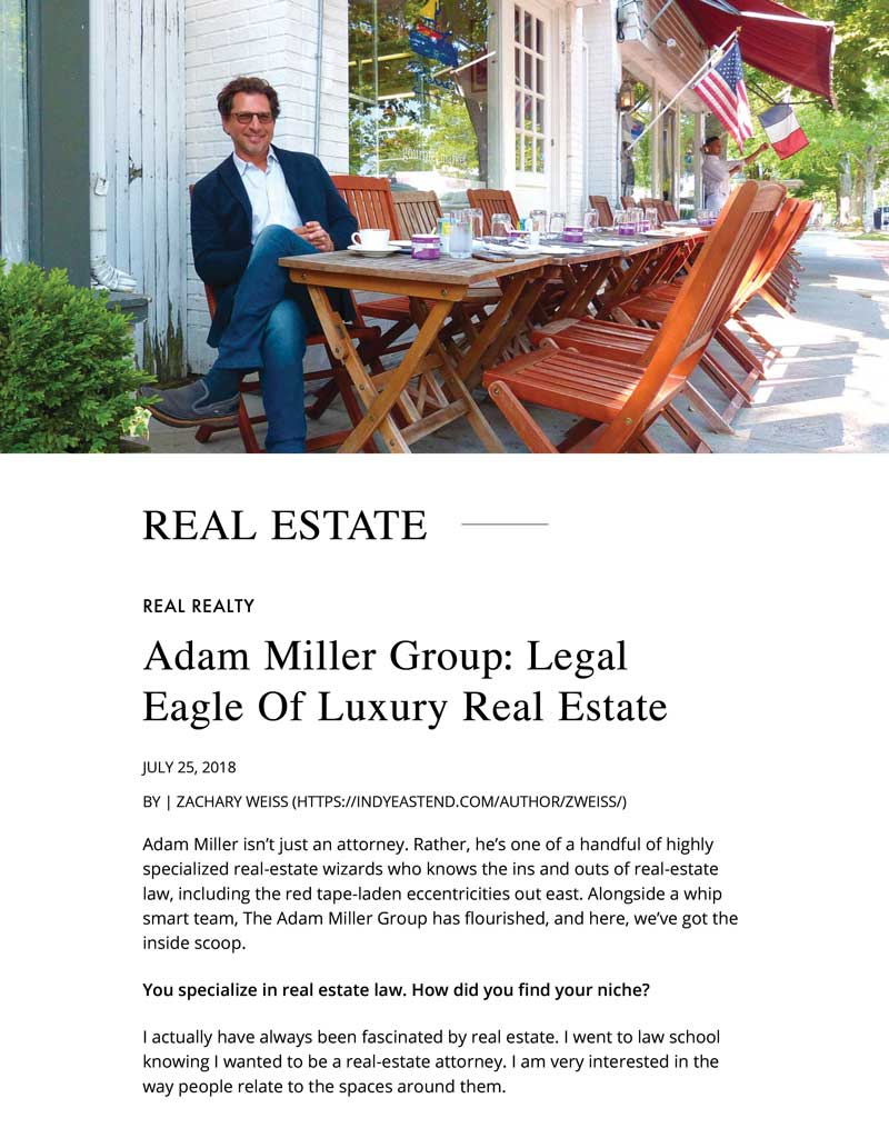 Adam Miller Group: Legal Eagle of Luxury Real Estate